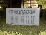 東武蒲生駅 市制50周年記念(越谷南ロータリークラブ 創立35周年記念)碑 裏