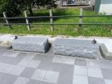 JR本津幡駅 リスのベンチ