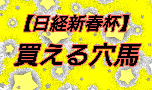 【日経新春杯】買える穴馬