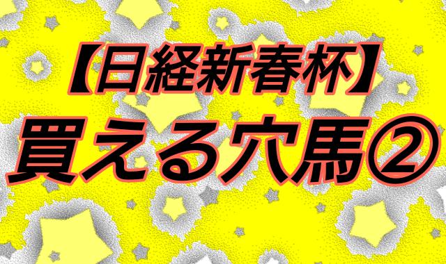 【日経新春杯】買える穴馬②