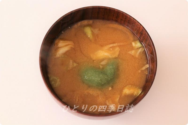 草餅味噌汁