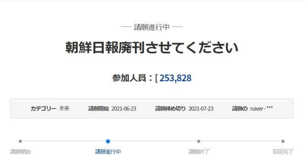 [韓国の反応]『朝鮮日報廃刊を大統領府に請願』に対する日本の反応がこれ[韓国ネット民]