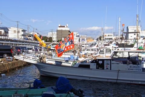 小田原漁港の大漁旗