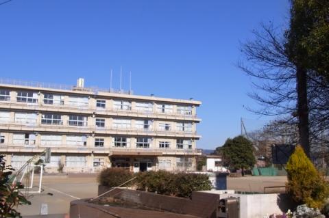 緑坂から見る城山中学校