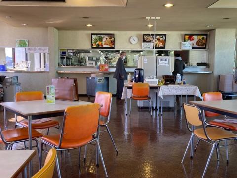 小田原市役所7階の食堂