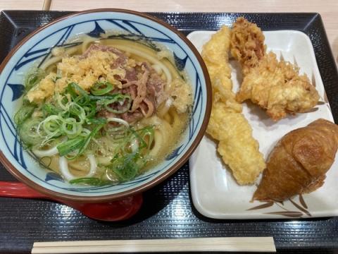 丸亀製麺の肉うどんランチセット
