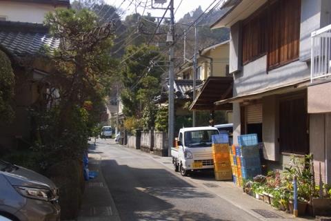 早川地区の町並み