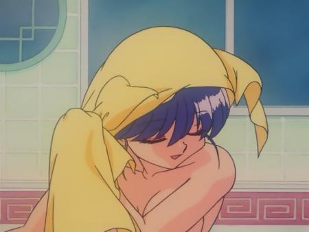 らんま1/2OVA版 反転宝珠の禍 シャンプーの胸裸ヌードシャワー入浴シーン14