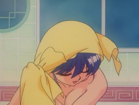 らんま1/2OVA版 反転宝珠の禍 シャンプーの胸裸ヌードシャワー入浴シーン15