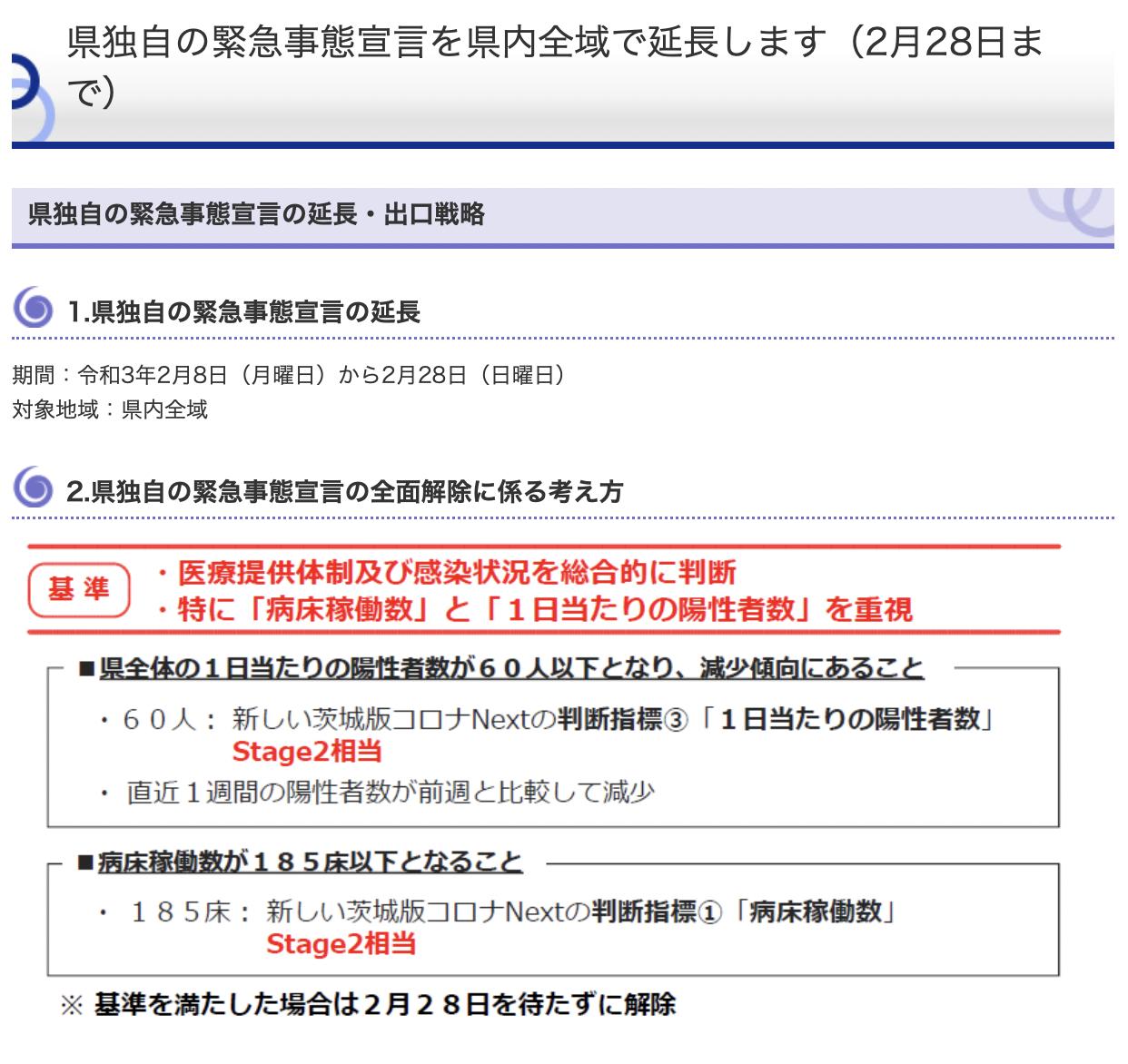 茨城県緊急事態延長