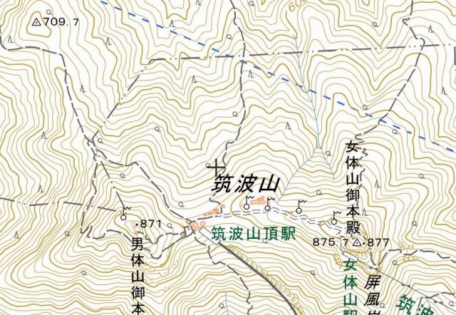 ☆筑波山 男体山871m 女体山877m