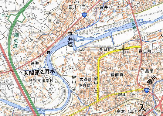笹井堰 地図
