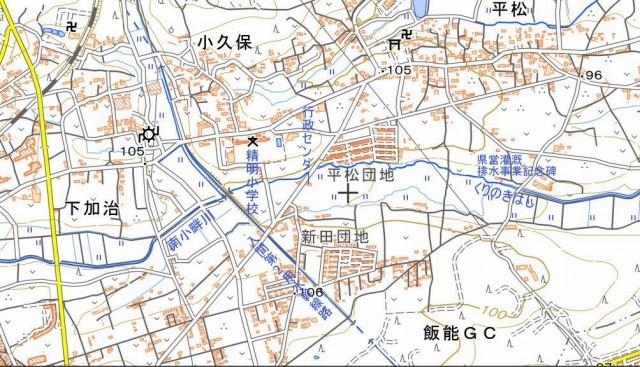 ☆地図 精明小学校付近