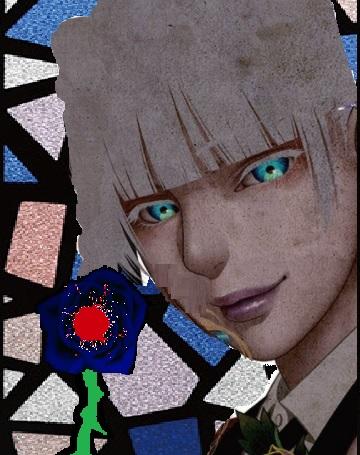 ヴェンスディアナ家の青薔薇を持つアルビノの紋章jpg1