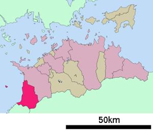 観音寺市の位置