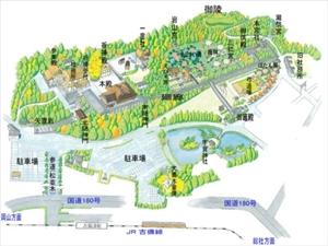 吉備津神社マップ