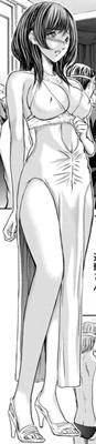 ドレスの桃果さん全身図
