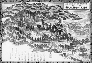 昔の石清尾八幡宮境内図