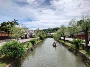 運河と渡し船