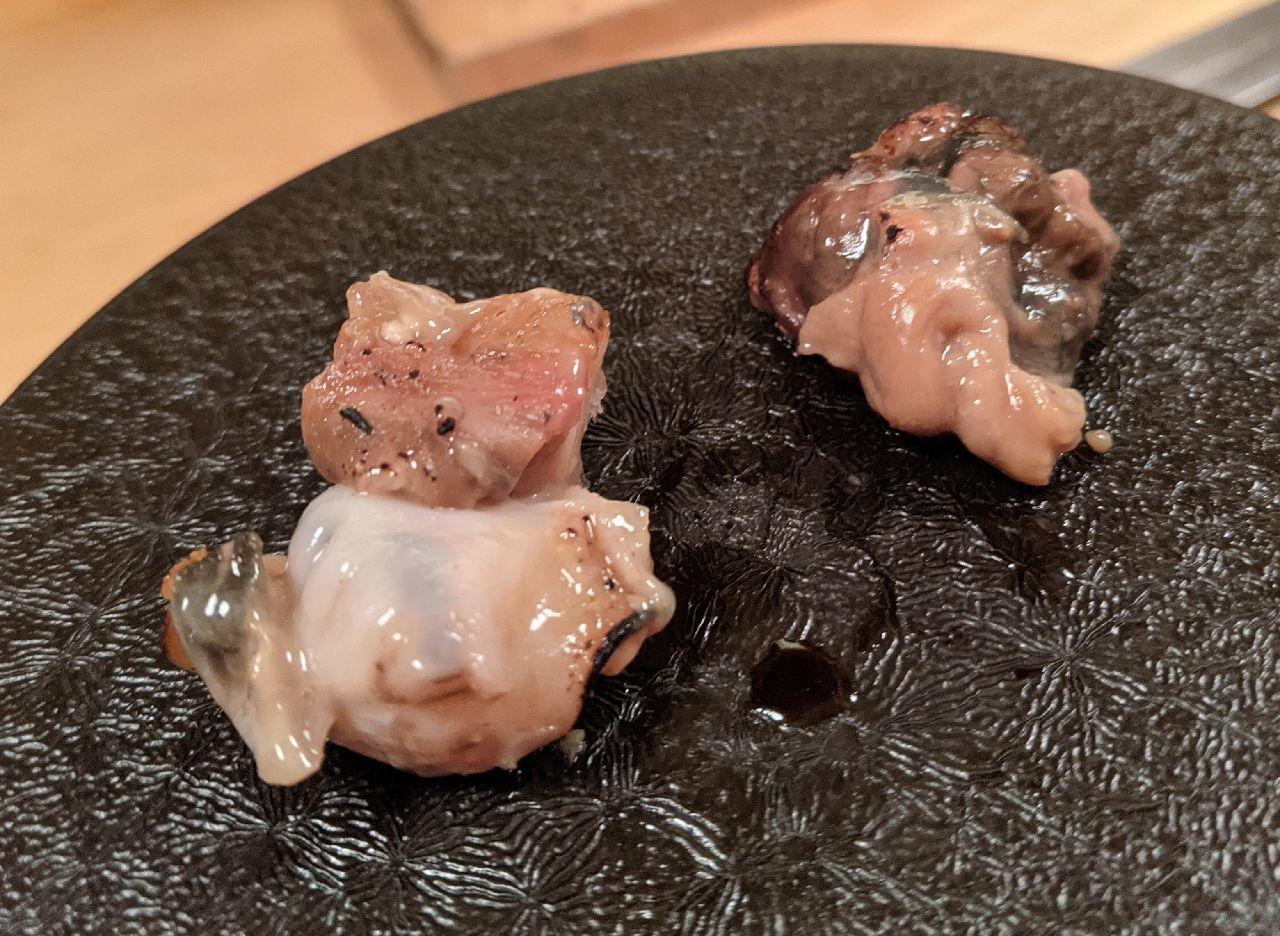 PXL_20210131_083522929バイ貝、バイ貝肝の熾火焼き