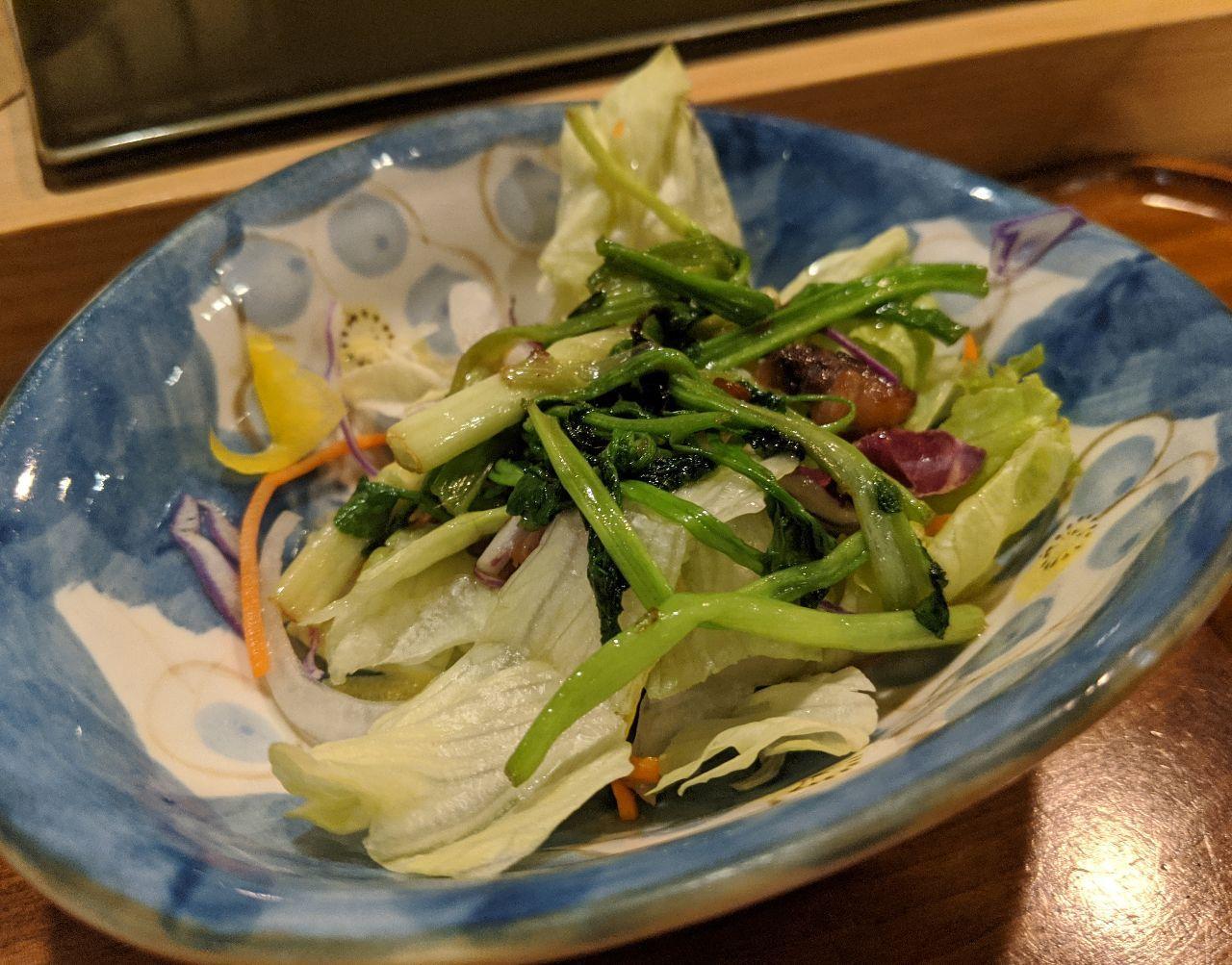 MVIMG_20200319_205231せりをマグロの脂で炒めたサラダ