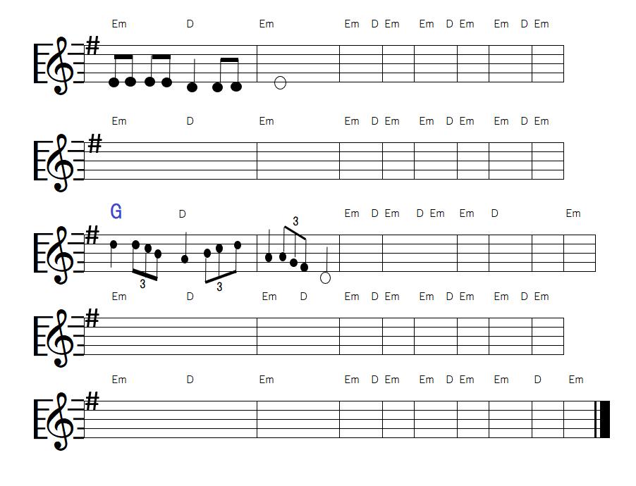 自作曲-3連符