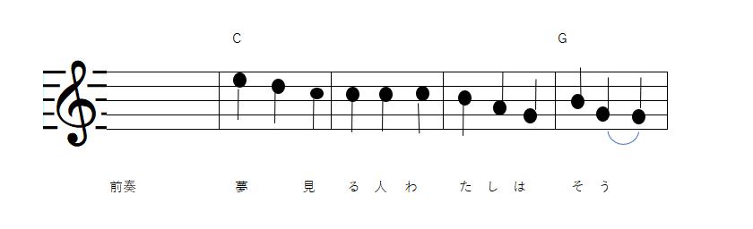 夜明けのうた—譜面-唄