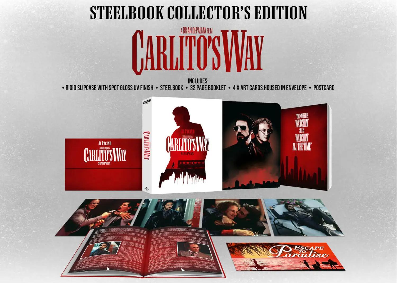 カリートの道 carlitos way 4K steelbook zavvi スチールブック