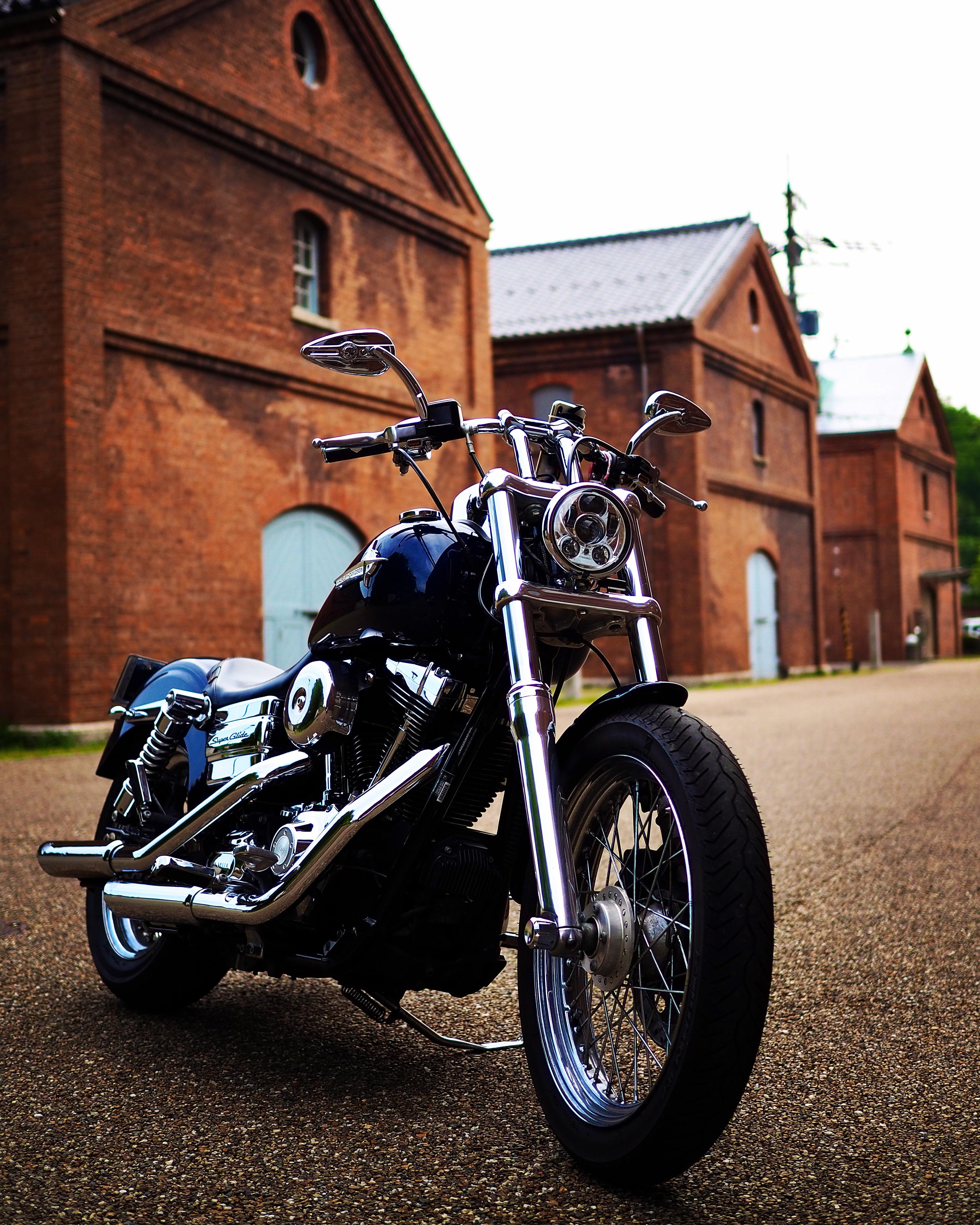 舞鶴ツーリング 舞鶴赤レンガパーク レトロ ハーレー バイク