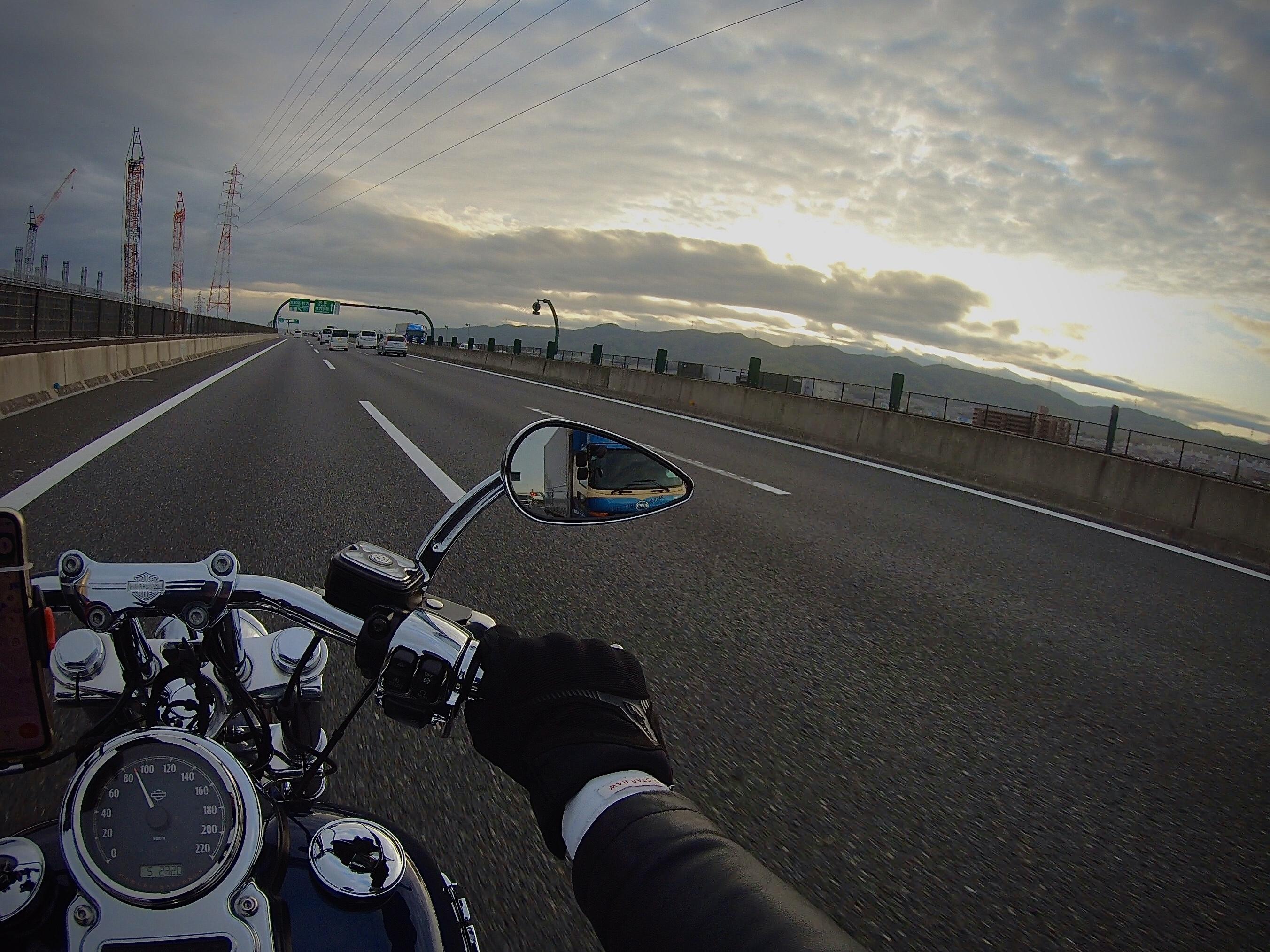 琵琶湖お花見ツーリング スタート 高速道路