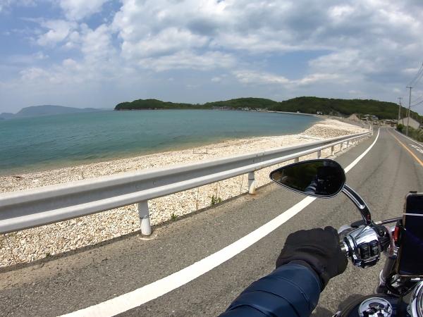 小豆島ツーリング 絶景とグルメ ハーレー 旅 一人 瀬戸内海 海沿い 絶景ロード