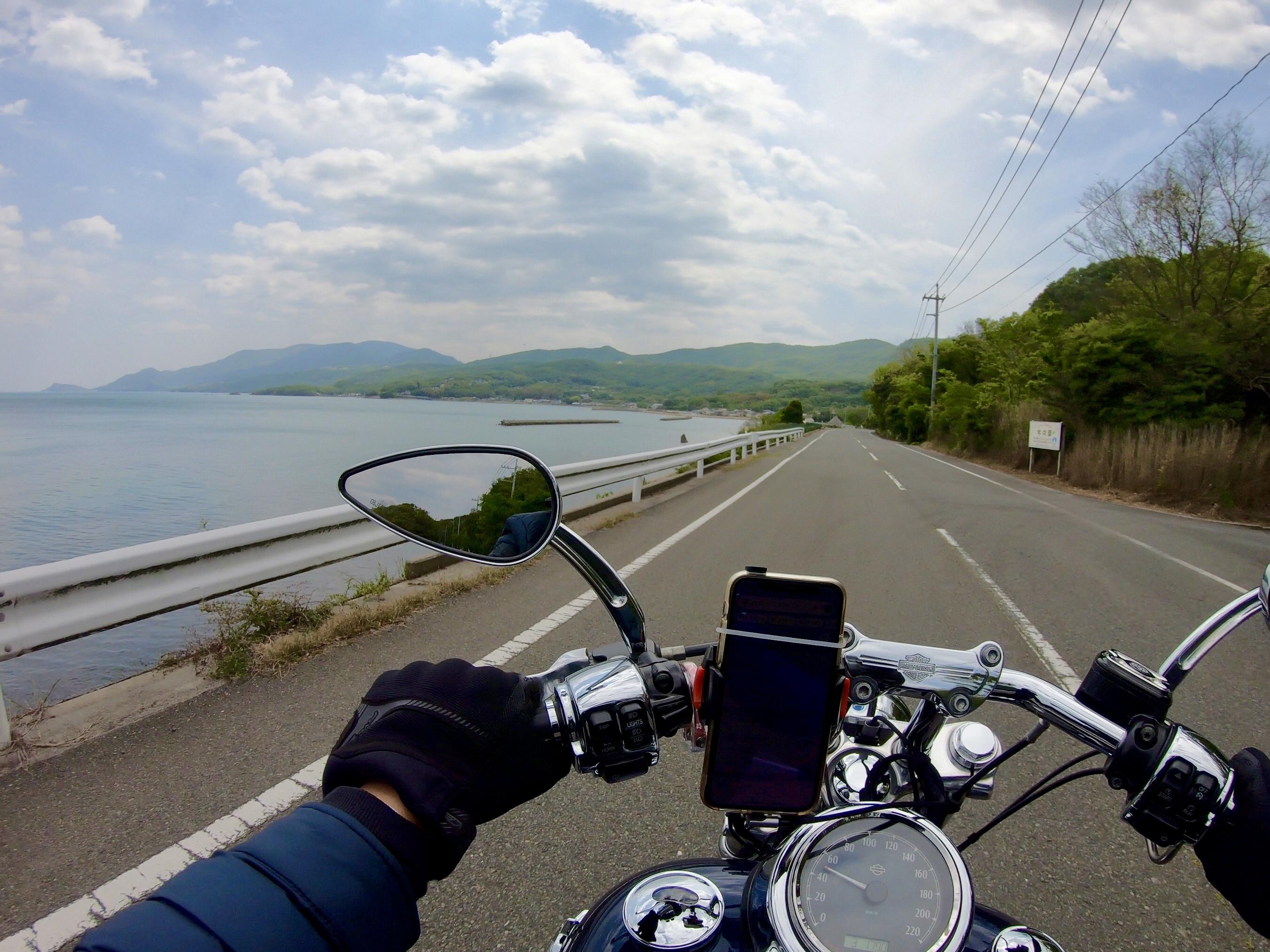 小豆島ツーリング 絶景とグルメ ハーレー 旅 一人 瀬戸内海 海沿い