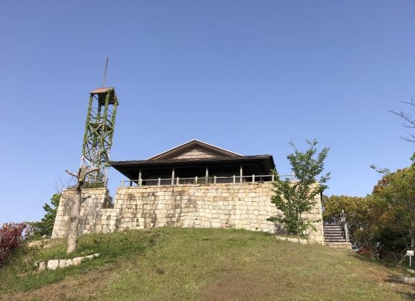 小豆島 絶景&グルメツーリング 高見山公園展望台 ハイキングコース 景色 絶景 瀬戸内 中世のお城