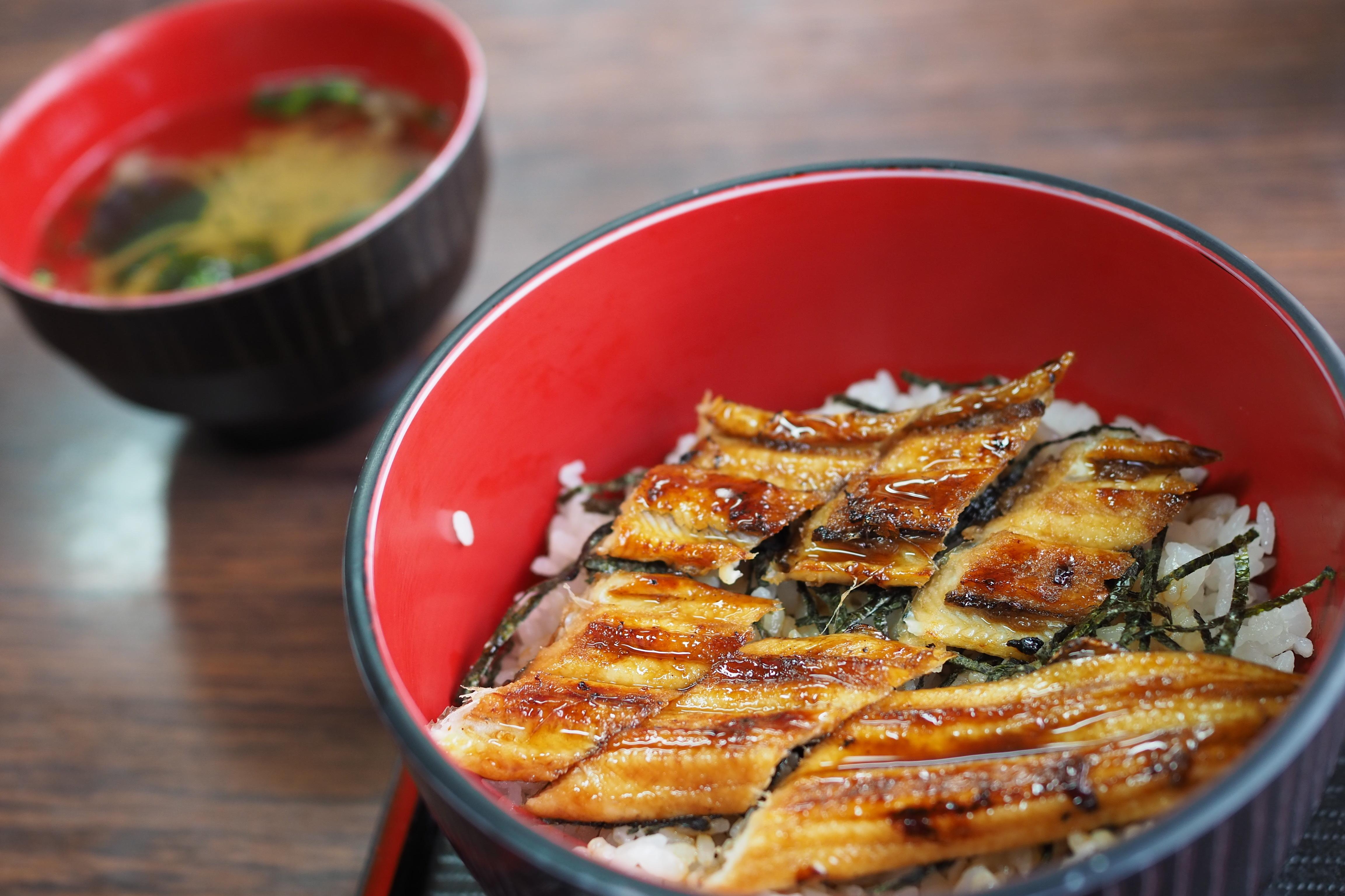 小豆島 絶景&グルメツーリング 食事処うめもと 特上あなご丼 絶品です