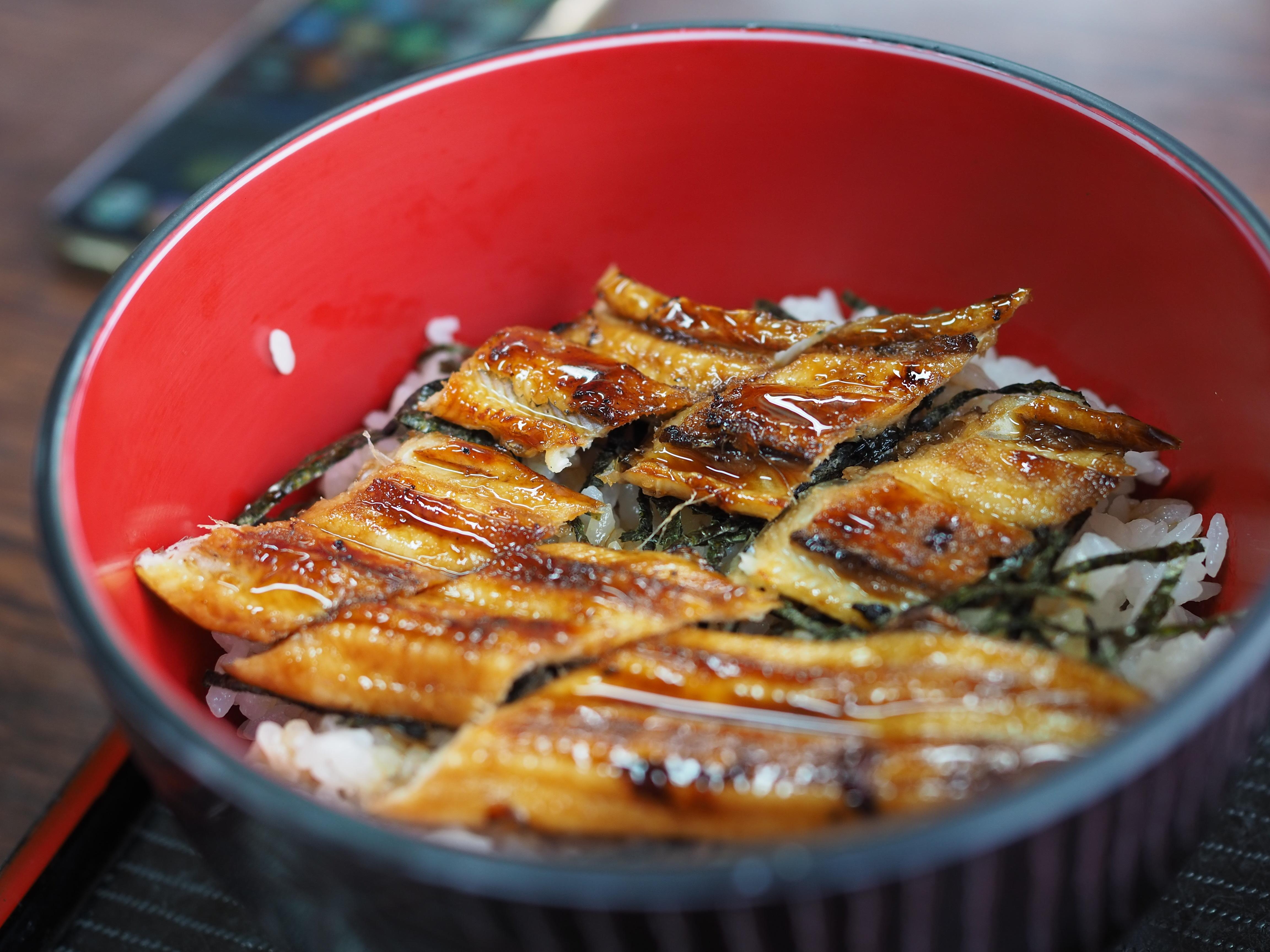 小豆島 絶景&グルメツーリング 食事処うめもと 特上あなご丼 美味 あっさり芳ばしい