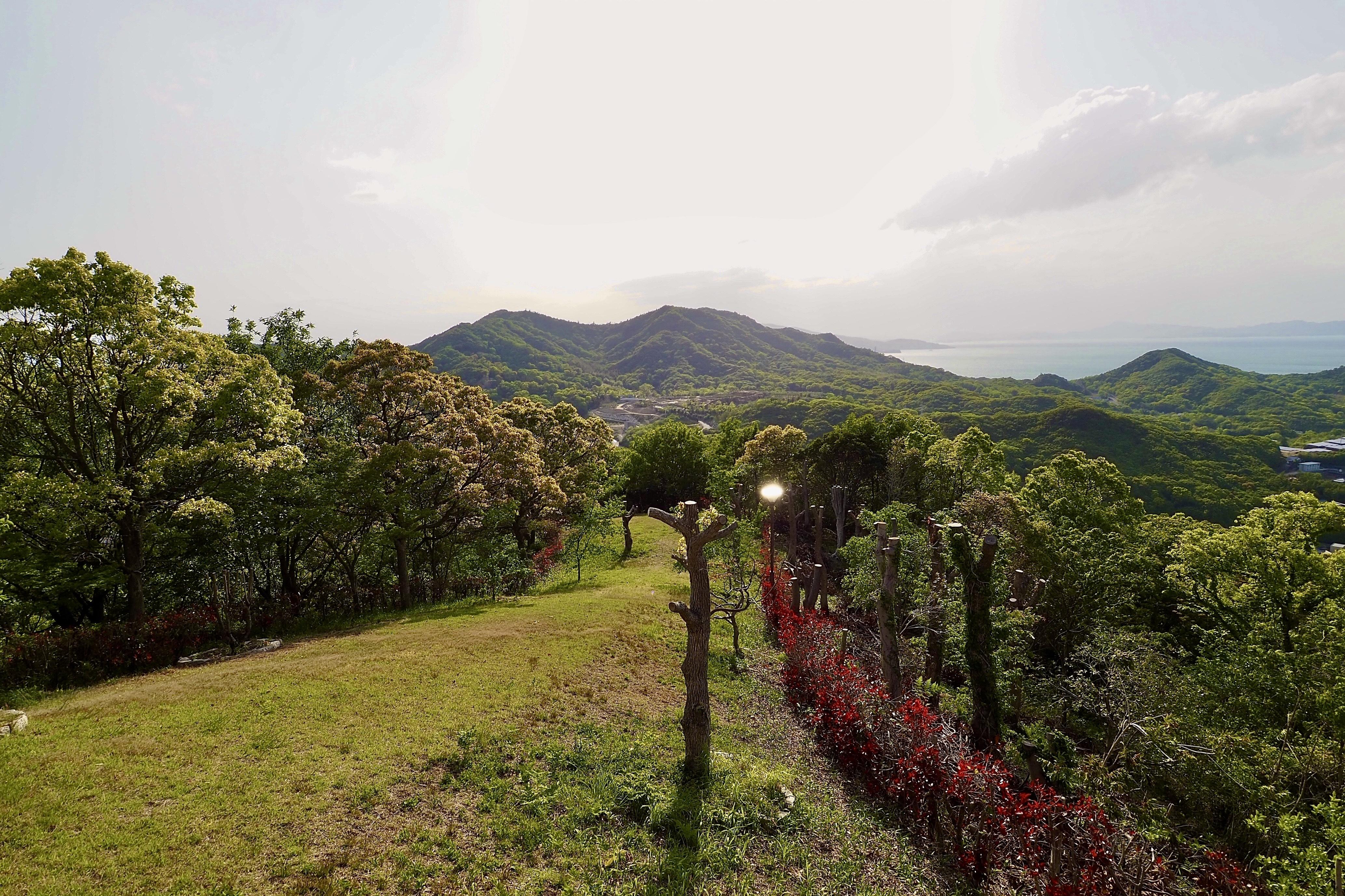 小豆島 絶景&グルメツーリング 高見山公園展望台 ハイキングコース 景色 絶景 瀬戸内