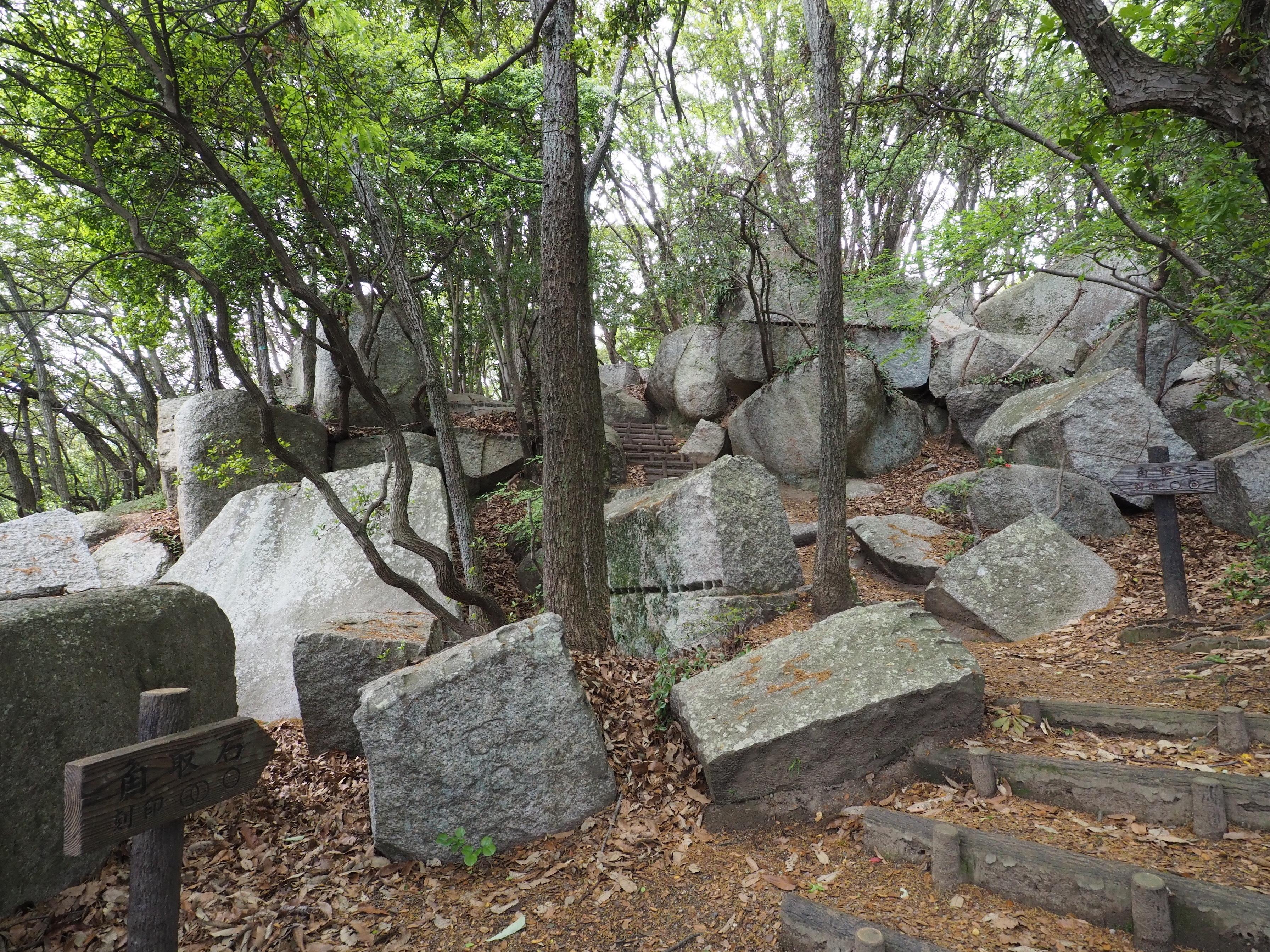 小豆島 絶景&グルメツーリング 天狗岩 周辺の石
