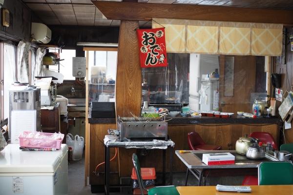 小豆島 絶景&グルメツーリング 木原食堂 おでん 真っ黒おでん