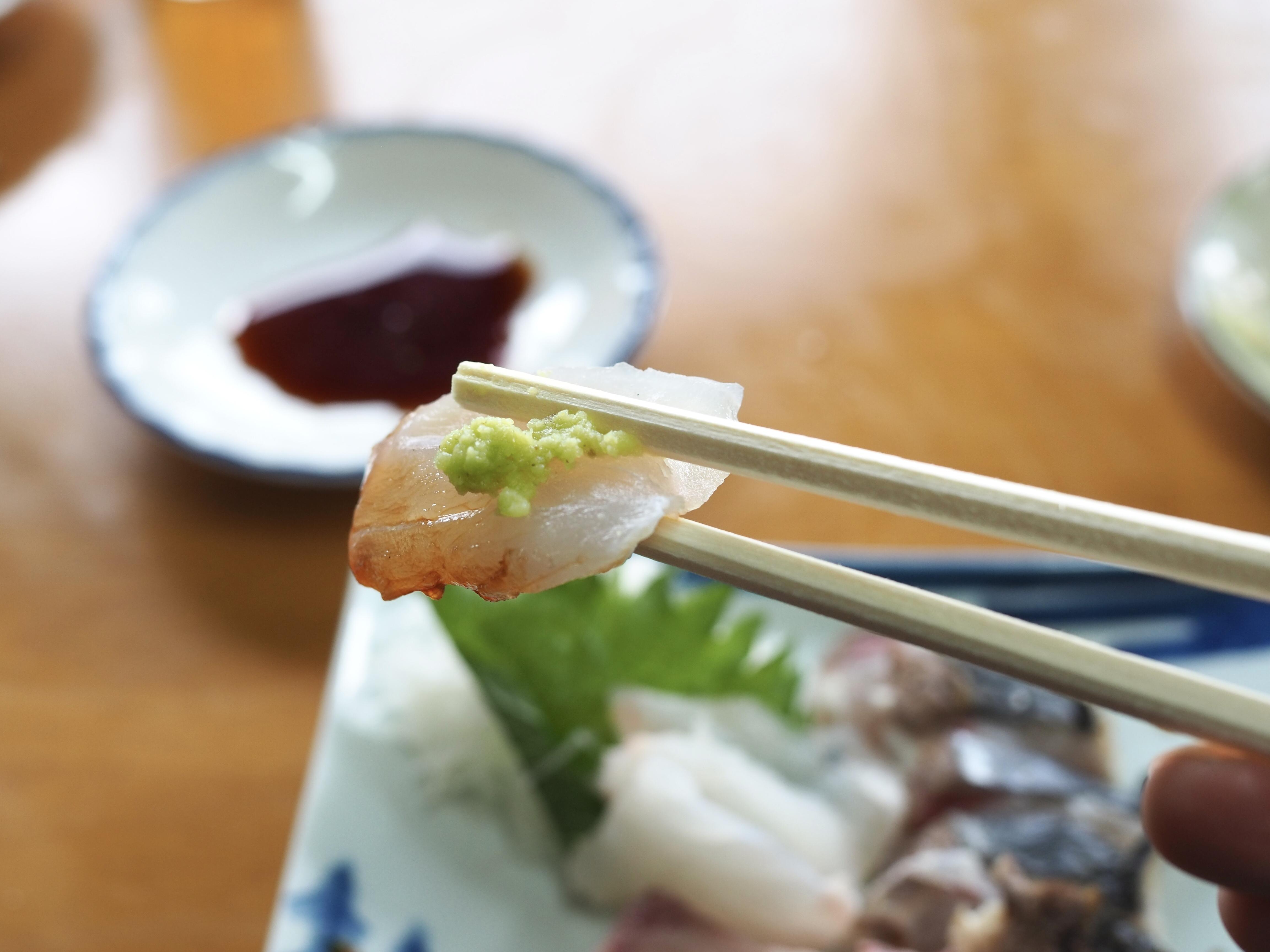 小豆島 絶景&グルメツーリング 木原食堂 お刺身定食 あこう 高級魚
