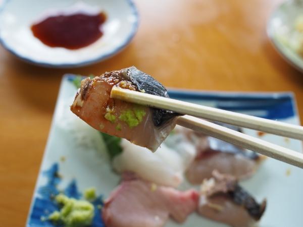 小豆島 絶景&グルメツーリング 木原食堂 お刺身定食 鰆 サワラ 炙り