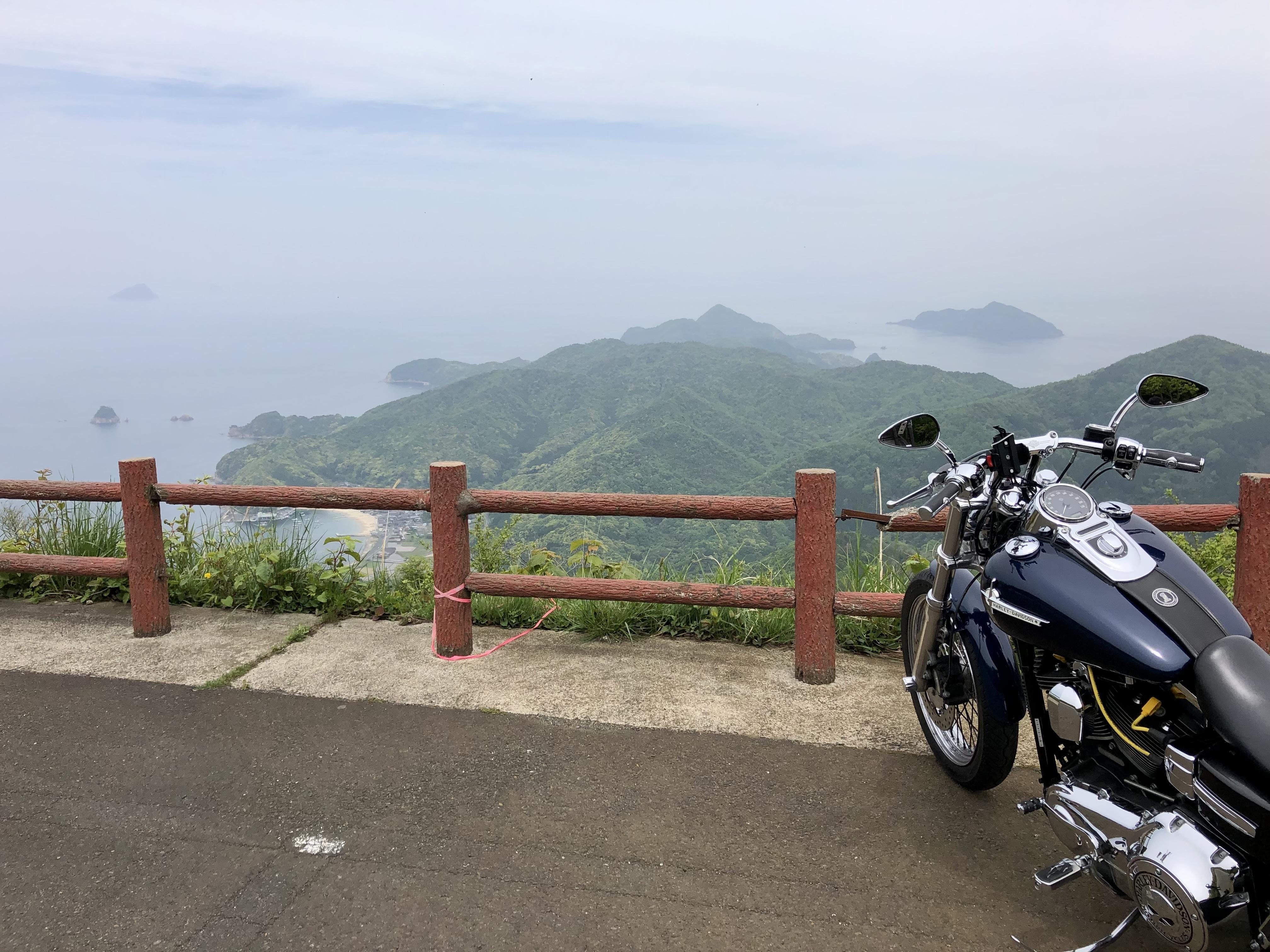 舞鶴ツーリング 空山展望台 絶景 曇り