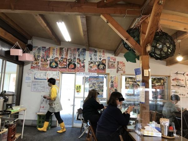 舞鶴ツーリング ランチ 大六丸 店内 海鮮丼