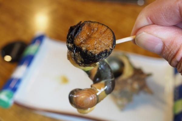 舞鶴ツーリング ランチ 大六丸 海鮮丼 海鮮  サザエ壺焼き