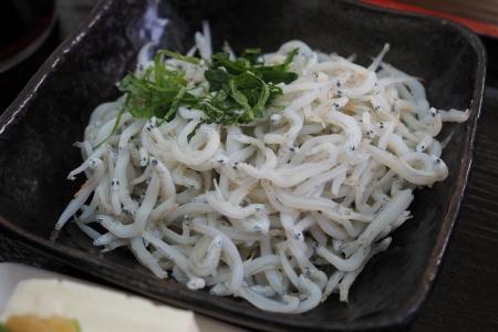 和歌山 有田市 テラスカフェライスフィールド 太刀魚のからあげ丼 唐揚げ 和歌山グルメ 美味い 釜揚げしらす