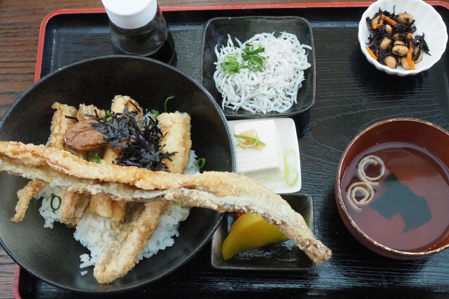 和歌山 有田市 テラスカフェライスフィールド 太刀魚のからあげ丼 唐揚げ 和歌山グルメ