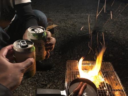 ぴーきちハーレーブログ 滋賀 奥琵琶湖キャンプツーリング ビールで乾杯