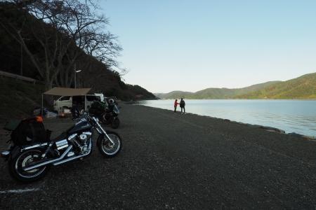 ぴきーちハーレーブログ 奥琵琶湖キャンプツーリング 二本松キャンプ場の景色 長浜 滋賀県