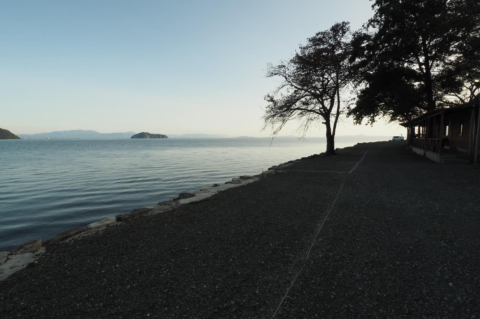 ぴきーちハーレーブログ 奥琵琶湖キャンプツーリング 二本松キャンプ場の景色