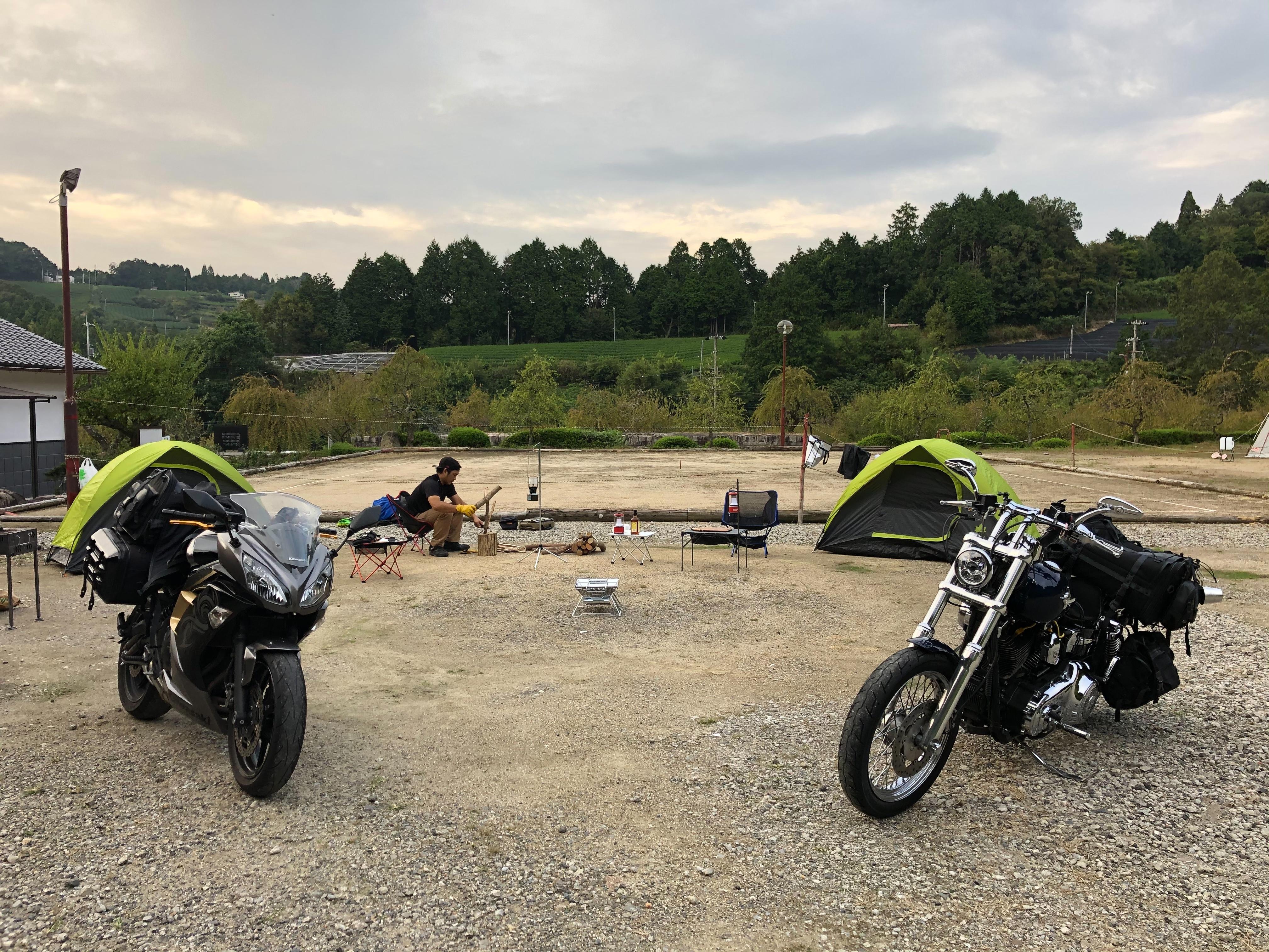 ぴーきちハーレーブログ ロマントピア月ケ瀬 キャンプ場 キャンプサイト