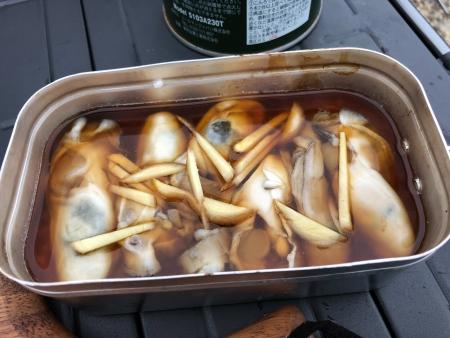 ぴーきちグルメブログ キャンプ飯 メスティン 牡蠣ご飯 作り方